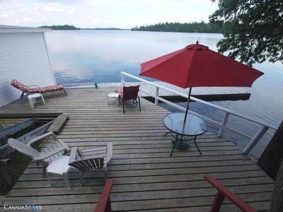 Deck and dock, lakeside
