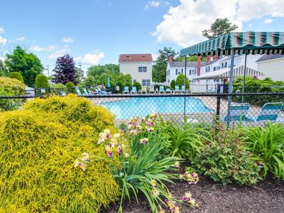 Photo for Simple condo w/patio & shared pool terrace - walk to beaches