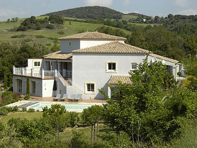 Photo for Near Carcassonne - Stunning villa with HEATED POOL and wonderful views
