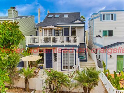 4BR/2BA-2nd & 3rd fl. w/ large front deck. 100 ft to ocean sand. April openings.