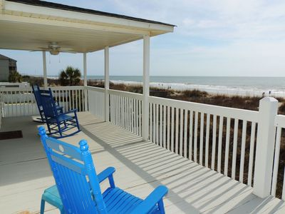 Photo for Ocean View is ocean front and only 0.6 miles north of Surfside Beach Pier.