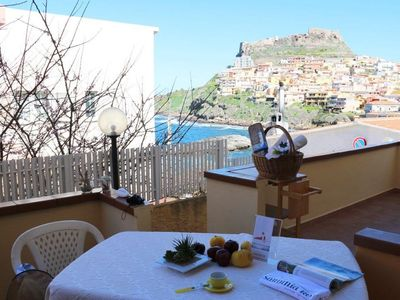 Photo for La Marina apartment in Castelsardo with private terrace & balcony.