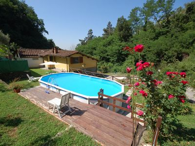 Photo for Holiday home on the hills of Val di Nievole between Lucca, Pistoia and Montecatini, private pool