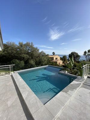 Photo for Rte des Sanguinaires Villa with swimming pool 150 m walk from the beach.