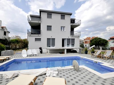"""Photo for New, luxury sea view """"apartment Lara"""" 300m sea distance with pool"""