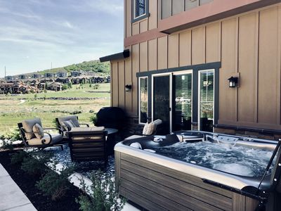 Photo for Brand New Luxury Park City- Private Hot Tub & gas fire pit, near SKI RESORTS