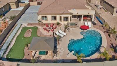 Massive yard with your own full size Pickle Ball Court .