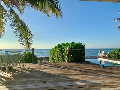 """Photo for Stylish & Relaxed, Original Oceanfront Beach House - """"The Bach"""""""