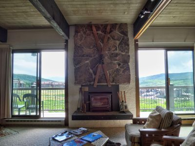 Photo for Ski-In/Ski-Out Mountain Side - Winter Shuttle, WIFI, Fireplace, Clubhouse