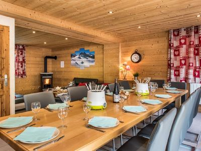Photo for Beautiful chalet at the foot of the slopes Menuires-3 Valleys, jacuzzi, sauna, Wifi