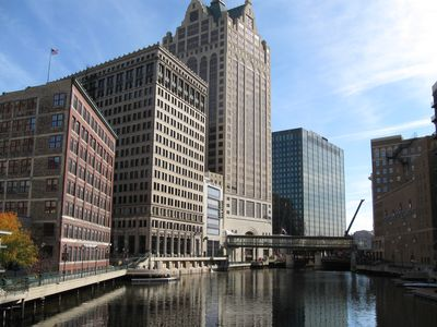 Your place is literally steps away from Milwaukee's Riverwalk