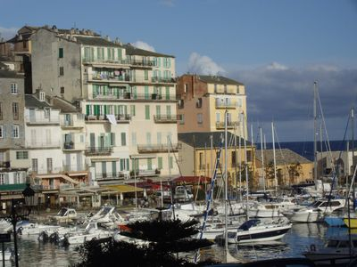 Photo for Bastia lovely apartment near the old fishing port, shops and beaches