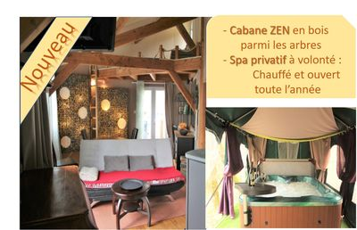 Photo for Zen CABIN in WOOD, SPA Private heated, at will, near Grottes de Lascaux