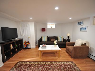 Photo for Comfy, cozy and clean basement apt with parking close to Harvard, Tufts and MIT.