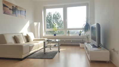 Photo for Bright apartment with panoramic views over Hannover and southloggia