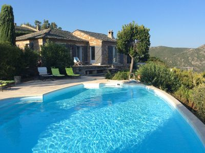 Photo for House with pool in Saint-Florent facing the sea in Corsica