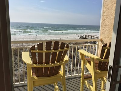 Photo for BEACHFRONT Okaloosa Island with Beach Service SLEEPS 6.... NEW OWNERS