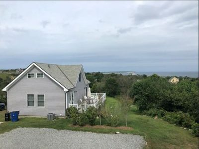 Photo for Lovely Home on Block Island | Ocean views Big lawn