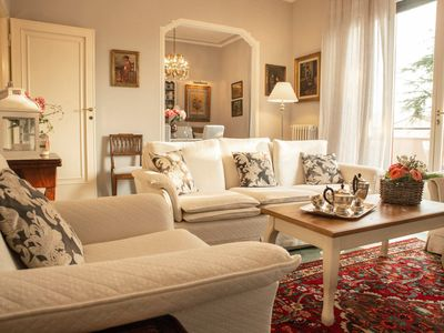 Photo for LUXURY NEW APARTMENT- PARKING AND GARDEN PRIVATE-VERY CLOSE WALLS OF LUCCA-WIFI