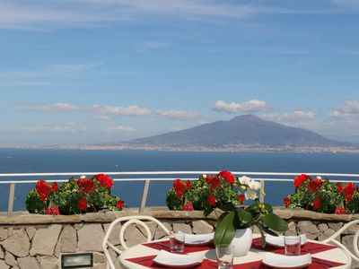 Photo for MiraSorrento, romantic view on the bay of Naples