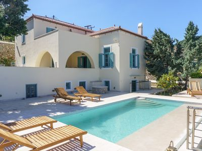 Photo for The Great Gatsby 6BR villa overlooking Spetses old town by JJ Hospitality