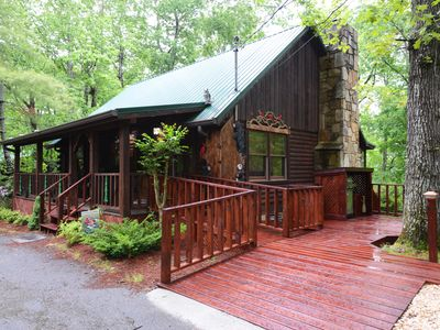 Photo for Tranquility  Log Cabin -  Our name says it all, yet we are close to Pigeon Forge