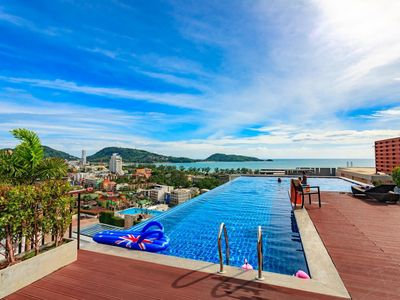 Photo for U606 - Convenient Patong apartment for 3 people with pool and gym.