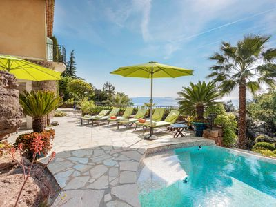 Photo for Villa Roc et Mimosa, private pool and amazing views