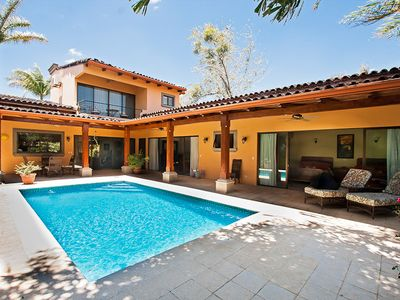 Pool area - Large pool area and deck. Two bedrooms open directly to the poool
