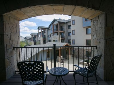 Photo for Tons of space with numerous fireplaces and pool views