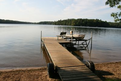 View of the lake from your own private dock.