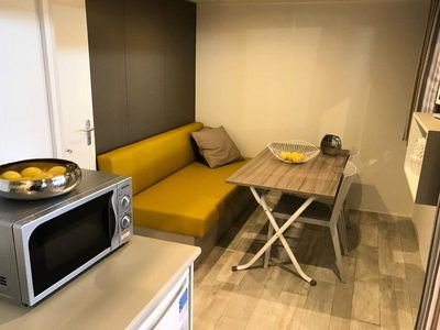 Photo for Camping Le Mas des Sedaries ** - Tiny Chalet 2 Rooms 2/4 Persons