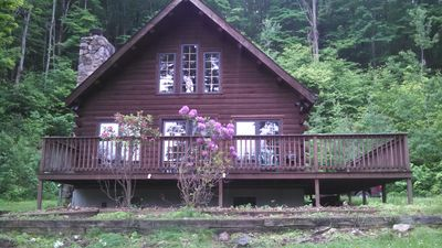 Photo for Log cabin in quiet setting only 15 miles from Penn State & 2 state parks