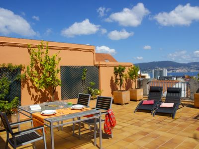 Photo for Penthouse in Vigo Center with Private Terrace and Sea Views, WiFi, Sat TV