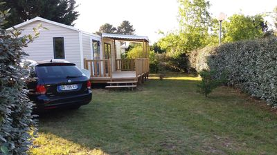 Photo for Air-conditioned fully equipped mobile home with terrace 4/6 people on 300 m of land