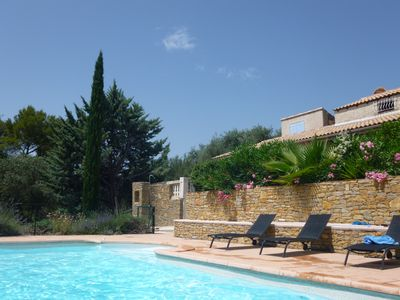 Photo for Provencal villa with a pool, for a family or group