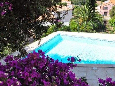 Photo for 3 bedroom apartment - 8pers - Private pool - Beach and sea view