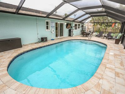 Photo for Stunning, three bedroom two full bath ranch home with a private in-ground pool
