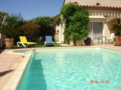 Photo for BEAUTIFUL TRADITIONAL VILLA VERY COMFORTABLE 6/8 PERS PRIVATE SWIMMING POOL BEAUTIFUL GARDEN 15MN BEACHES ...