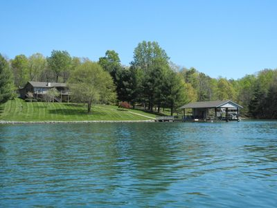 View from the water - Wide Water Cove with Deep Water at the Expansive Dock