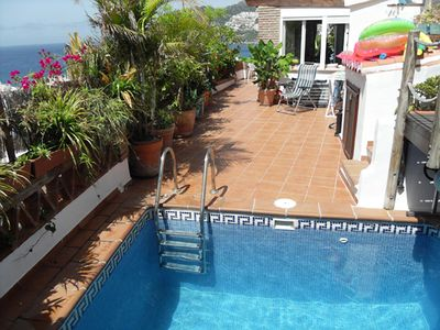 Photo for Beautiful 4 bedroom, 3 bath villa with private heated pool and stunning views.