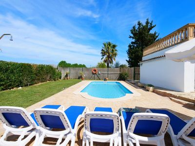 Photo for Charming chalet with views to the mountains and pool in Pollensa