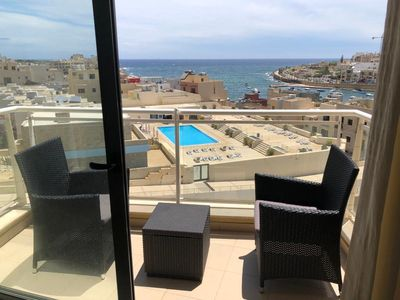 Photo for Holiday apartment Marsascala for 2 - 4 persons with 2 bedrooms - Penthouse holiday apartment