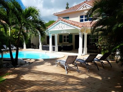 Photo for Luxury beach front villa rental in Guadeloupe