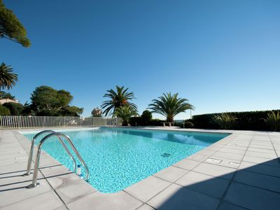 Photo for Beautiful apartment in Bel Epoque villa with pool and beach access