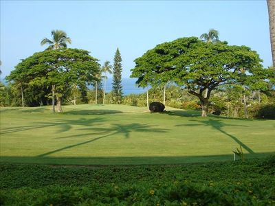 Enjoy spectacular ocean views across the golf course from the huge lanai