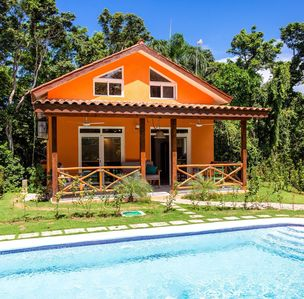 Photo for Private retreat with jungle spa, short walk from quiet beach