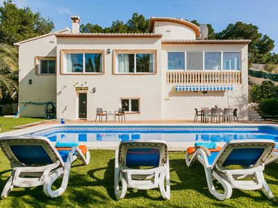 Photo for Beautiful Villa Corriol in Javea, sleeps 6 with air conditioning, wifi and pool