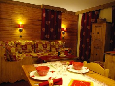 Photo for Valmorel Apt 5 people 36 m2 slopes resort center