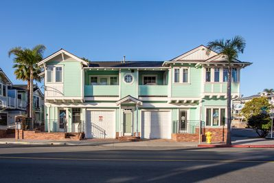 Beautiful 2nd story 2 bedroom condo with 2 garage parking spaces in Avila Beach.
